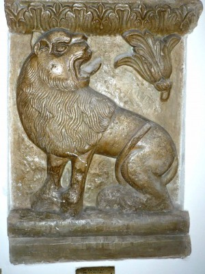 Detaliu de portal la Mânăstirea Văcăreşti