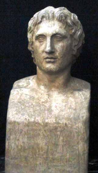 Bust Alexandru Macedon – descoperit la Tivoli (Copie în gips realizată în Muzeul Luvru)