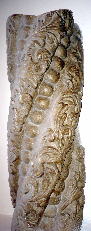 Ornament la piedestalul coloanei, Mânăstirea Văcăreşti