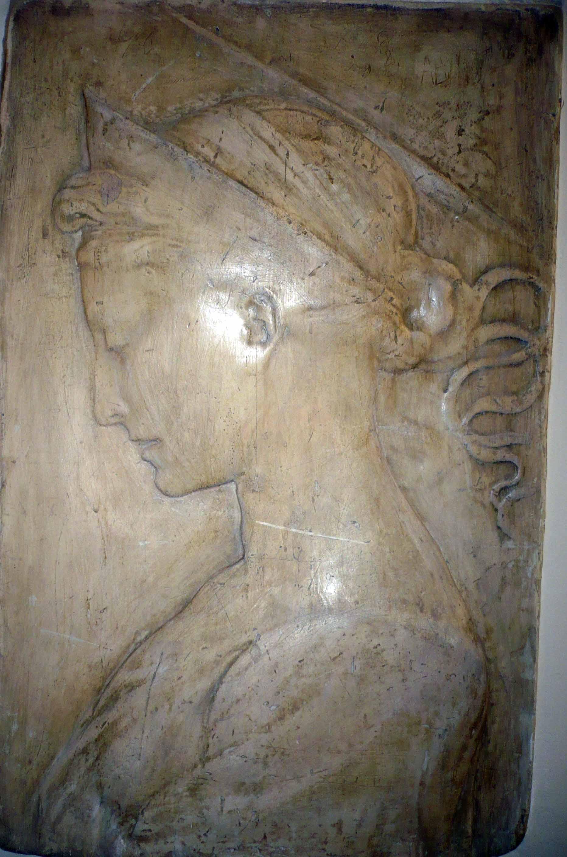 Basorelief Sfânta Cecilia – Donatello (Copie în gips)