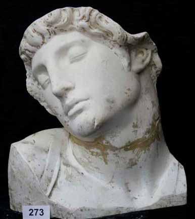 Mască Cap de sclav – de Michelangelo Buonarotti (Copie în gips realizată în Muzeul Luvru)