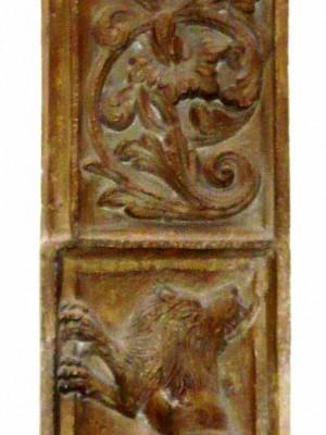 Fragment de ancadrament la portalul paracisului, Mânăstirea Văcăreşti