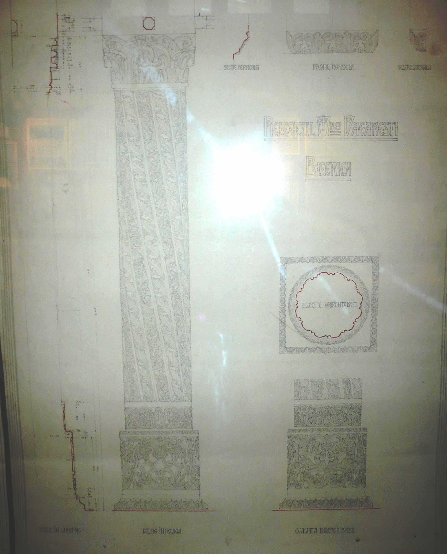 Releveul Mănăstirii Văcăreşti, coloană
