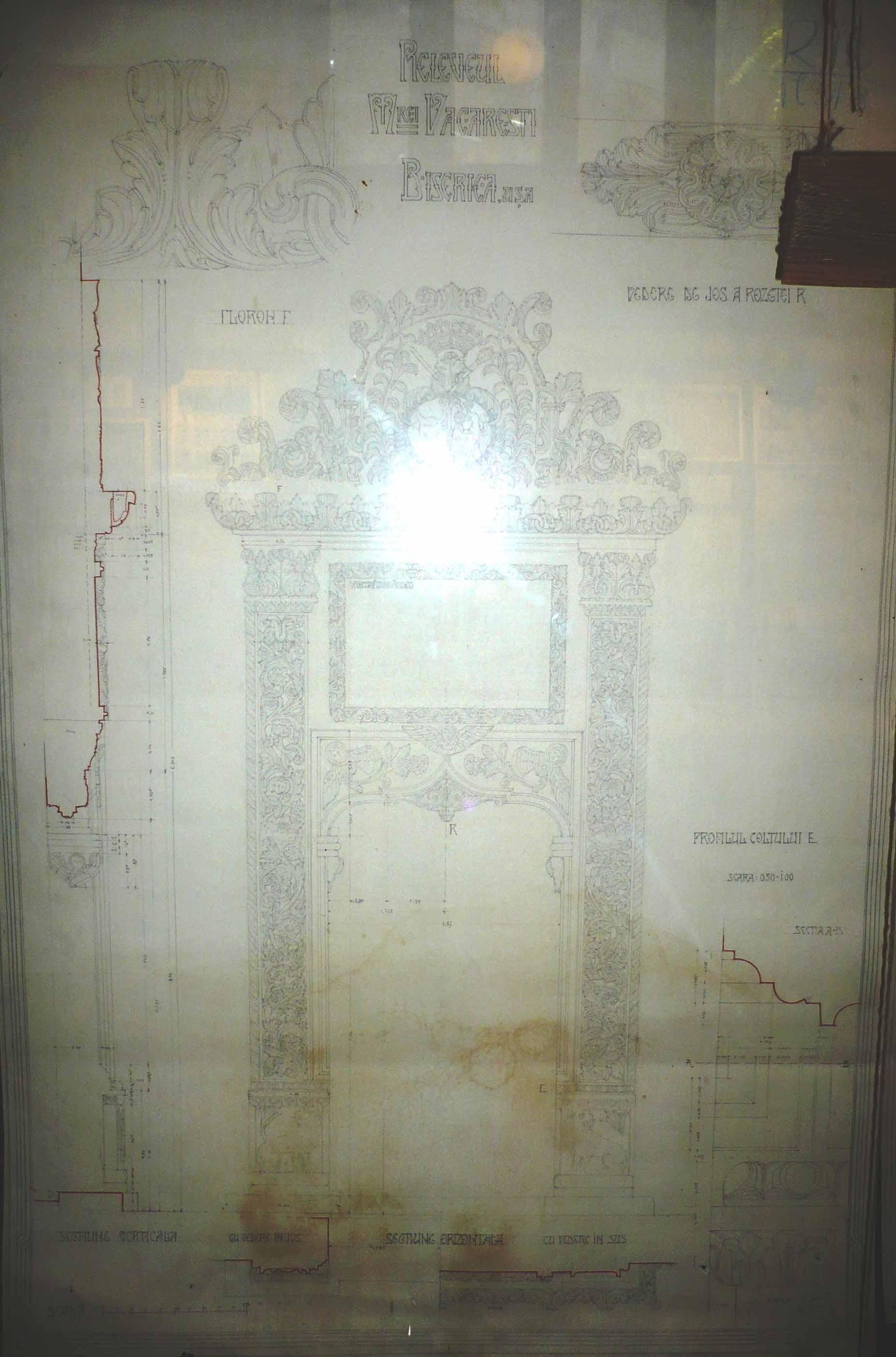 Releveul Mănăstirii Văcăreşti, uşa
